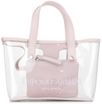 Emporio Armani Kids Transparent Logo Tote Bag