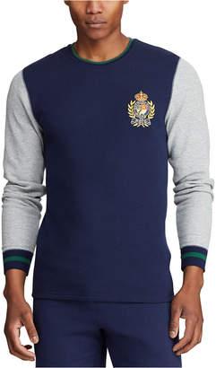 Polo Ralph Lauren Men Big Embroidered Waffle Crewneck Sleep Shirt