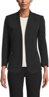 Anne Klein Zip Pocket Cardigan Jacket