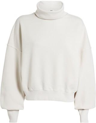 A Gold E Agolde Balloon Sleeve Turtleneck Sweatshirt