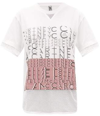 adidas by Stella McCartney Logo-print Cotton-blend T-shirt - Womens - White