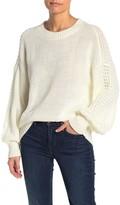 Abound Textured Blouson Sleeve Sweater