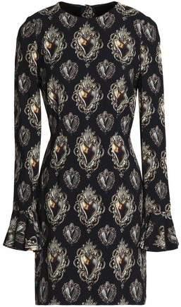 Dolce & Gabbana Printed Crepe Mini Dress