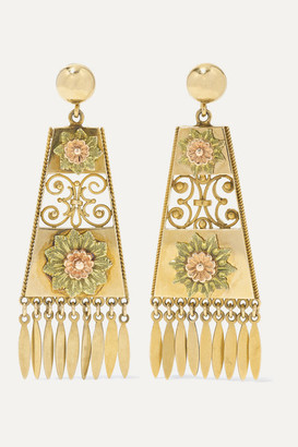 Fred Leighton 1880s 18-karat Yellow And Rose Gold Earrings