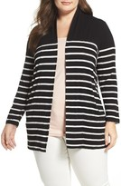 Vince Camuto Plus Size Women's Stripe Cardigan