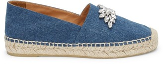 Miu Miu Jewelled Denim Espadrilles