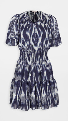 Rebecca Taylor Short Sleeve Ikat Dress