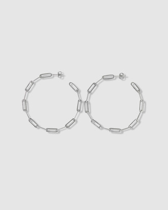 Ca Jewellery Link Chain Hoop Earrings Silver