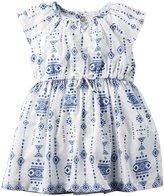 Carter's Print Dress (Baby) - White - New Born