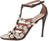 Alaia Puka Shell Leather Sandals