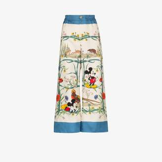 Gucci X Disney Mickey Mouse floral silk pyjama trousers