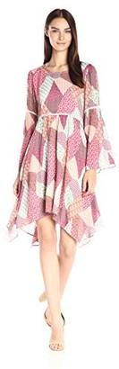 Nanette Lepore Women's Bohemian Quilt Print Dress