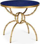 Chelsea House Irving Round Bamboo Side Table, Blue