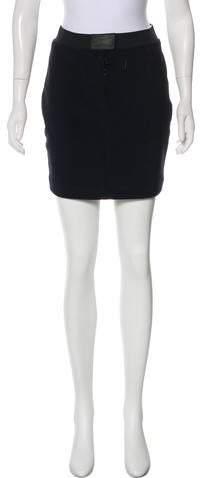 DKNY Ribbed Mini Skirt