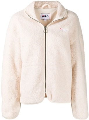 Fila Textured Logo Embroidered Jacket