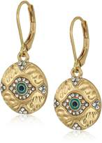 lonna & lilly Gold-Tine Evil Eye Drop Earrings