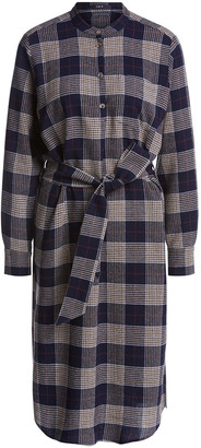 Set Fashion - Plaid Shirt Dress - 34 | blue | viscose - Blue/Blue