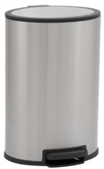 Household Essentials Stainless Steel 40L Loden Oval Step Bin