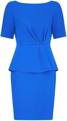 Adrianna Papell Knit Crepe Peplum Sheath Dress