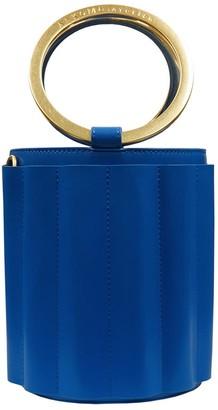 Water Metal Handle Small Bucket Bag - Royal Blue