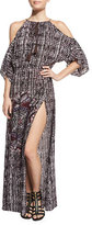 Ale By Alessandra South Pacific Cold-Shoulder Coverup Maxi Dress, Multi