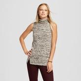 Cliche Women's Sleeveless Turtleneck Sweater
