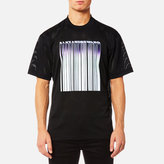 Alexander Wang Athletic Mesh Tshirt With Purple Chrome Barcode - Black