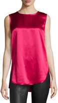Vince Silk High-Low Tank, Cerise