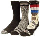 UNIONBAY Men's 3-pack Patterned Fashion Crew Socks