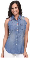 Rock and Roll Cowgirl Sleeveless Snap B5S3777