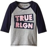 True Religion Long Sleeve Raglan Tee Shirt (Toddler/Little Kids)