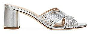 Via Spiga Women's Rafaela Woven Metallic Leather Mules