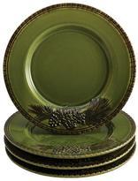 Paula Deen Signature Dinnerware Southern Pine 4-Piece Salad Plate Set in Green