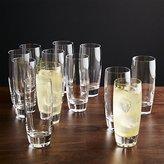 Crate & Barrel Otis Tall Drink Glasses, Set of 12