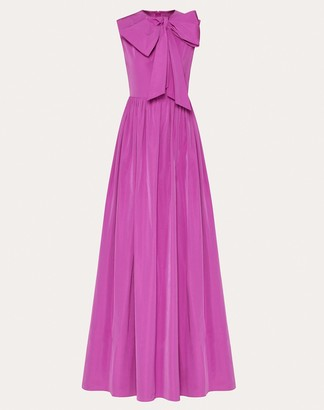 Valentino Micro-faille Evening Dress Women Creamy Berry Cotton 54%, Polyester 46% 40