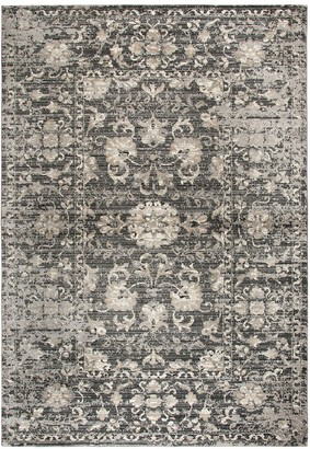 Panache Rizzy Home Transitional Distressed Floral Rug