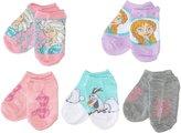 Disney Toddler Girls Frozen Girls 5 Pack No Show Sock Bundles