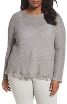 Eileen Fisher Plus Size Women's Fringe Hem Sweater
