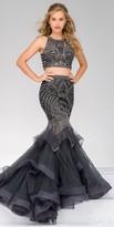 Jovani Sleeveless Two Piece Embellished Tulle Mermaid Dress
