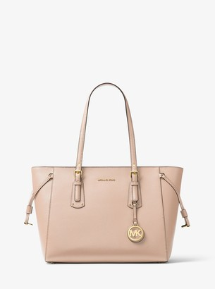 MICHAEL Michael Kors Voyager Medium Crossgrain Leather Tote Bag