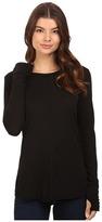 Michael Stars Luxe Slub Long Sleeve Crew Neck w/ Thumbholes Women's Clothing