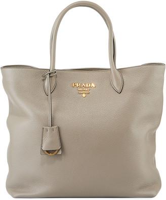 Prada Daino Shopper Tote Bag w/ Removable Crossbody Strap