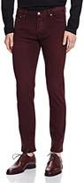 The Kooples Color Denim Slim Fit Jeans in Burgundy