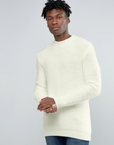 Pull&Bear Soft Feel Sweater In Off White