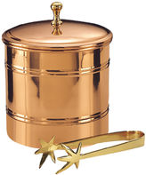 Old Dutch Dcor Copper Ice Bucket with Brass Tongs 3 Qt