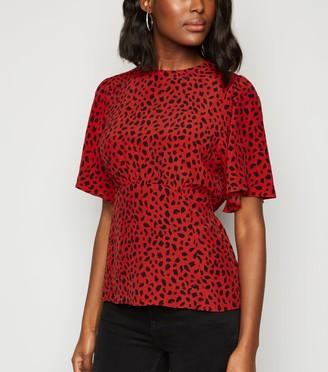 New Look Leopard Print Empire Waist Blouse