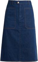 A.P.C. Nevada cotton-denim skirt