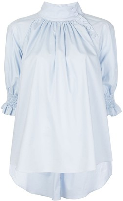Adam Lippes Stand-Up Collar Blouse