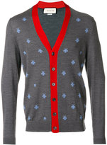 Gucci cardigan with bees and stars - men - Wool - XL