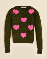 Flowers by Zoe Girls' Heart Sweater - Sizes S-XL